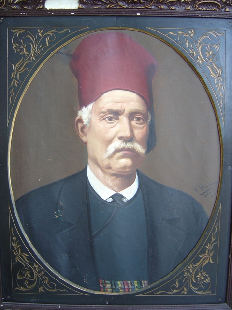 Ο Δημήτριος Ι. Σουρές, λάδι σε καμβά, ιδιωτική συλλογή