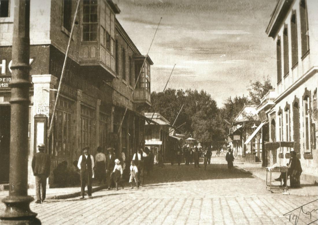 Πριν την ανέγερση του κτιρίου της Λάδης. Τσάγκαρη-Ξανθάκη Χίος 100 χρόνια φωτογραφίας