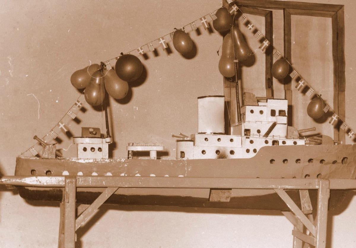 Η προπολεμική κατασκευή του προσκοπικού καλοχρονιάτικου πλοιαρίου του Βροντάδου