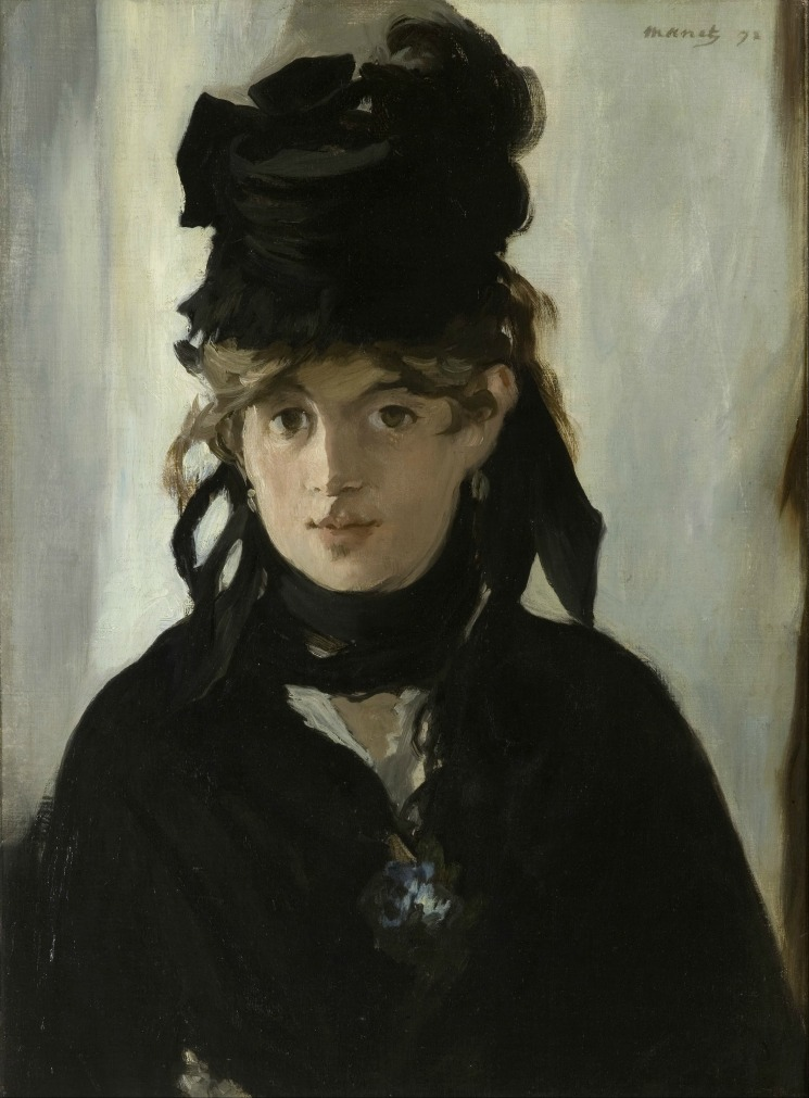 Berthe Morisot With a Bouquet of Violets, έργο του Edouard Manet