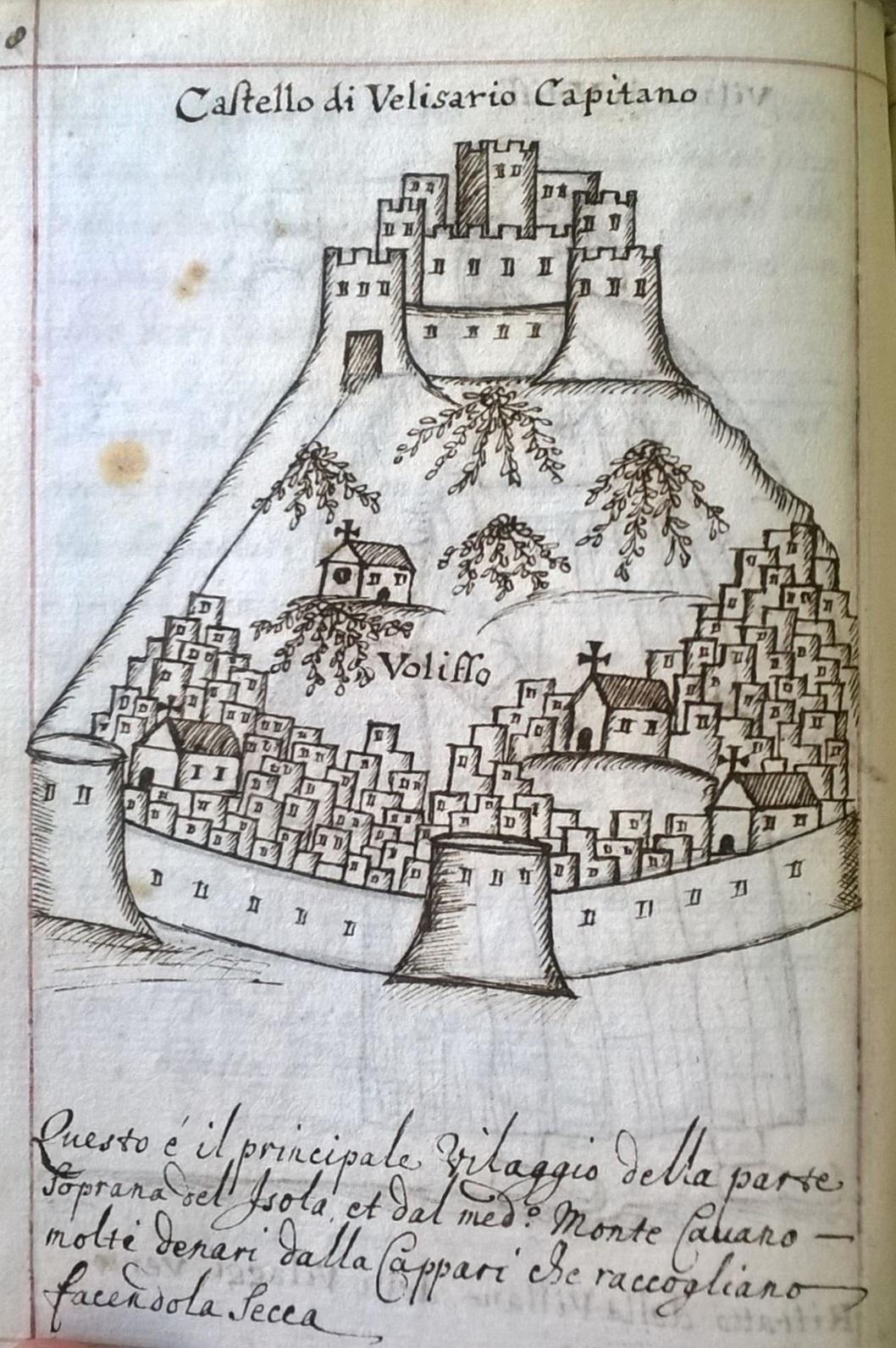 Εικ. 9. Το κάστρο της Βολισσού και ο οχυρωμένος οικισμός